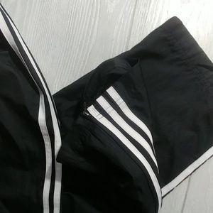 adidas Pants - Black Adidas leg stripe classic track pants